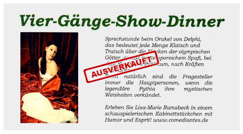 NEU: Vier-Gänge-Show-Dinner